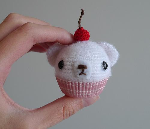 Crochet Mini Cupcake Bear