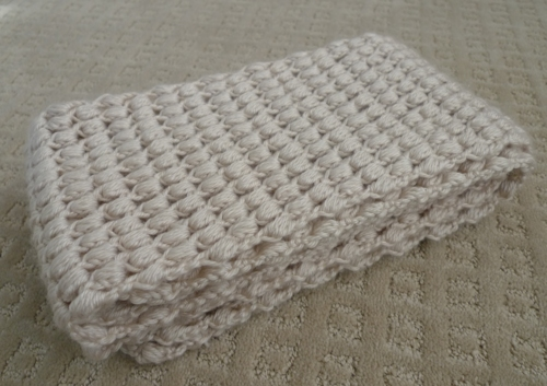 Pattern: Puff Stitch Scarf - All About Ami