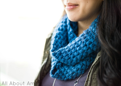 Pattern Puff Stitch Scarf All About Ami