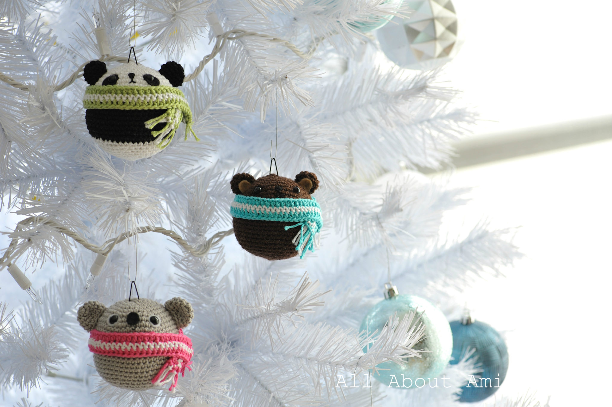 Amigurumi Teddy Ornaments - All About Ami