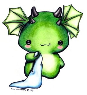 Baby Dragon Sketch by Kim Rountree of Oborocharms