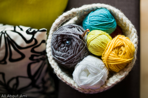 Chunky Crocheted Basket - All About Ami