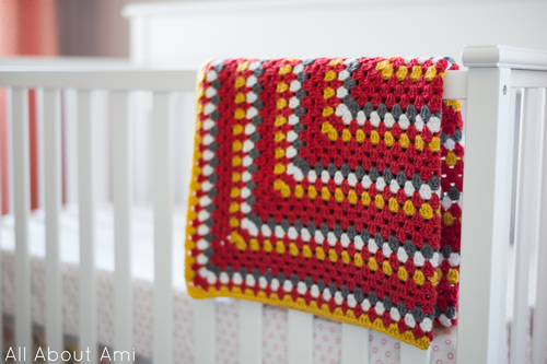 Granny Square Baby Blanket All About Ami