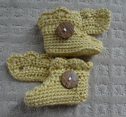 Crochet Baby Button Boots All About Ami
