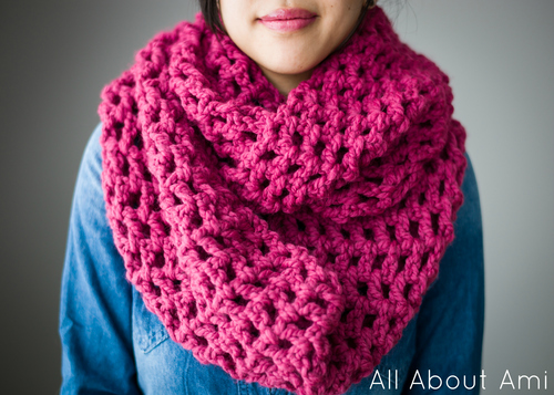 Long Double Crochet Cowl