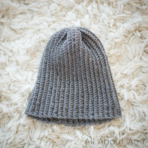 Easy Ribbed Pom Pom Beanie All About Ami