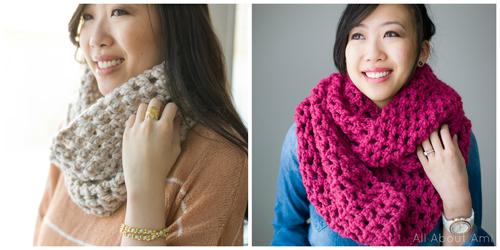 Chunky Double Crochet Cowl & Long Double Crochet Cowl
