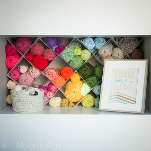 I Absolutely LOVE My New Yarn Storage Solution And It Makes Me So Happy  Whenever I Look At It! Itu0027s Such A Beautiful And Efficient Way To Store Yarn,  ...
