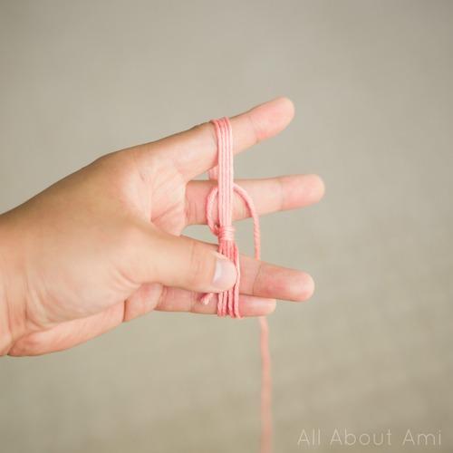 Yarn Ball & Crochet Hook Pin - All About Ami