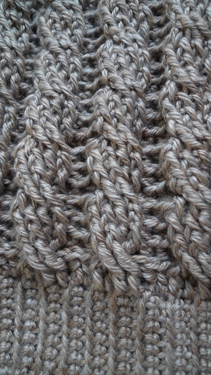 Crochet Cabled Slouchy Beanie