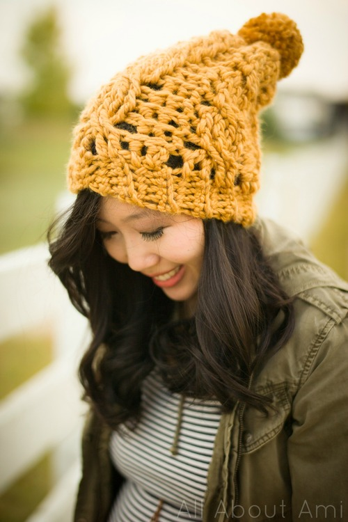 Chunky Cabled Slouchy Beanie All About Ami