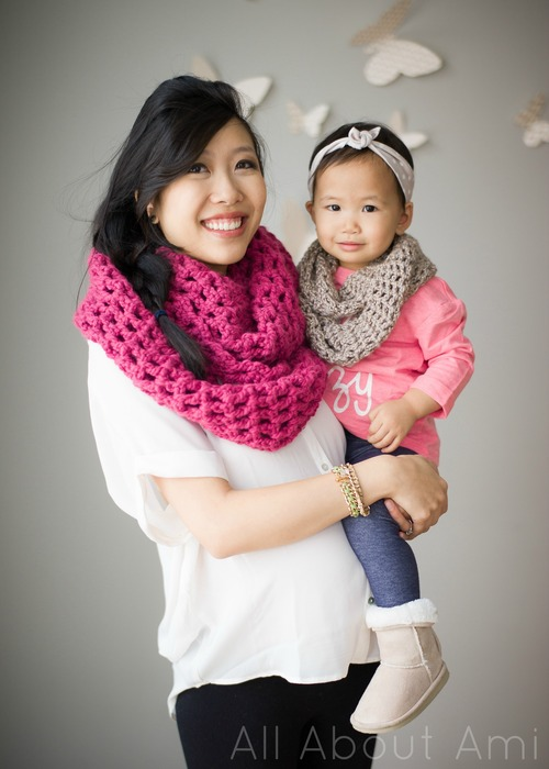 Toddler Long Double Crochet Cowl All About Ami