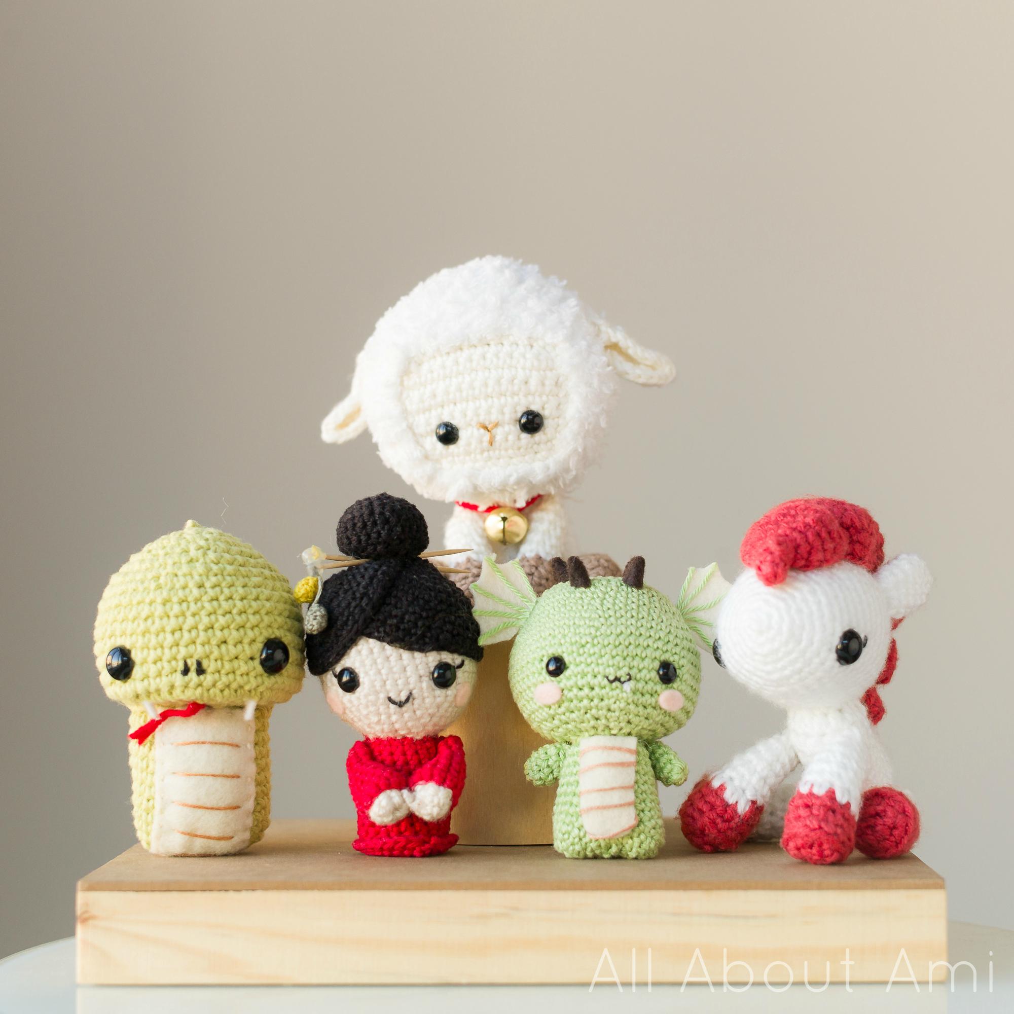 Kawaii Monkey Amigurumi : Pattern: Chinese New Year Sheep/Lamb - All About Ami