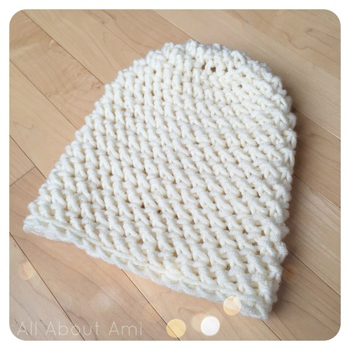 Herringbone Stitch Knit Hat Pattern : Herringbone Hdc Hat - All About Ami