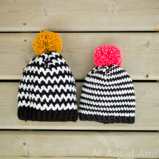 Black White Zigzag Beanie All About Ami