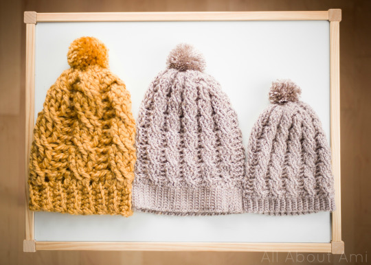 Crochet Cabled Beanies