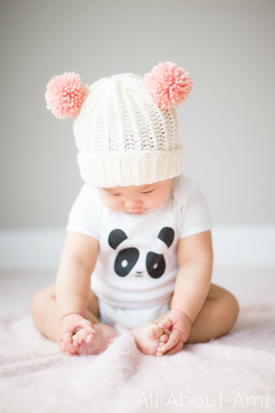 how to knit a baby pom pom hat away