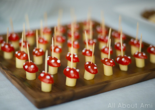 Woodland Creature Birthday Party Mushrooms