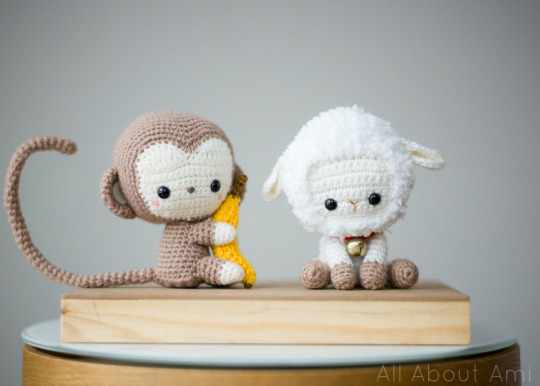 Crochet Chinese New Year Monkey and Lamb