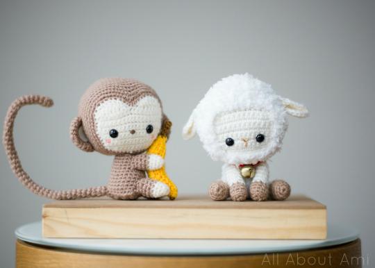 Crochet Chinese New Year Monkey and Lamb