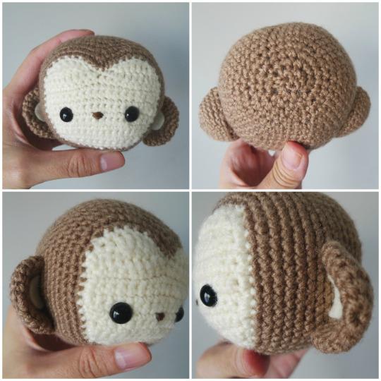 Crochet Monkey Pattern Amigurumi PDF-Monkey Crochet Pattern ... | 540x540