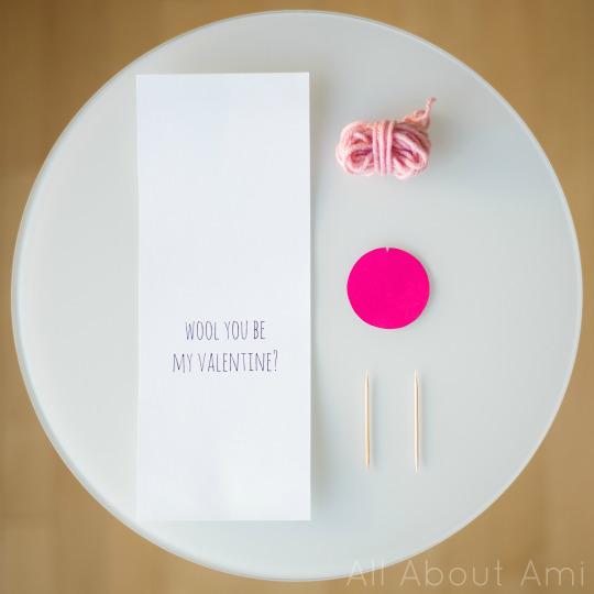 Wool Valentine Card 1
