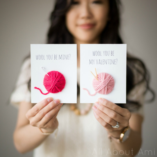 Wool Valentine Cards