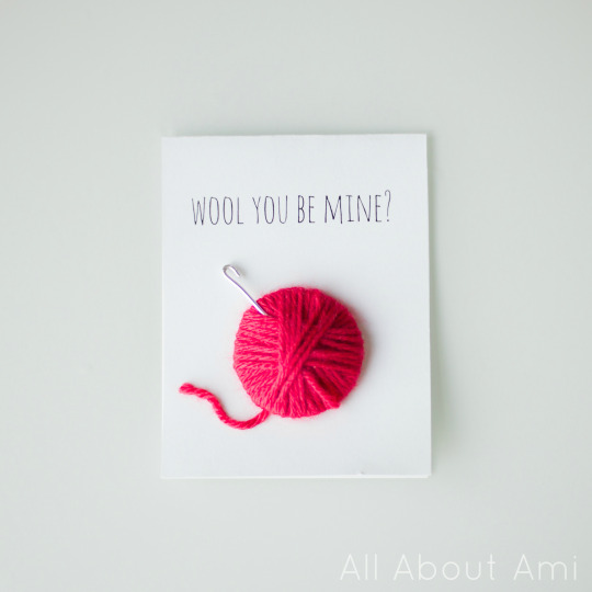 Wool Valentine Card 7