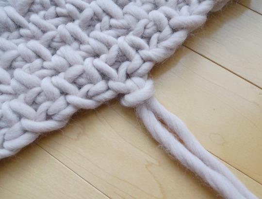 Crochet Moss Fringe Scarf