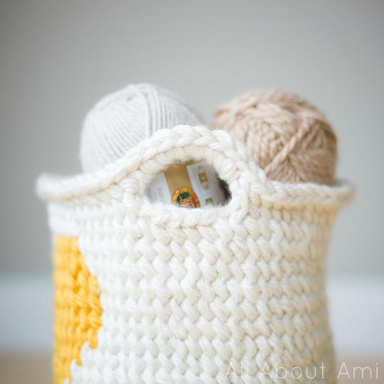 Crochet Heart Basket - All About Ami
