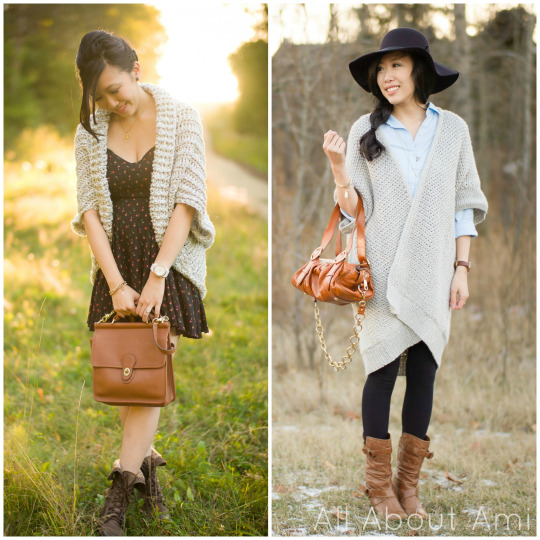 Easy Chunky Crochet Sweater & Granite Cape