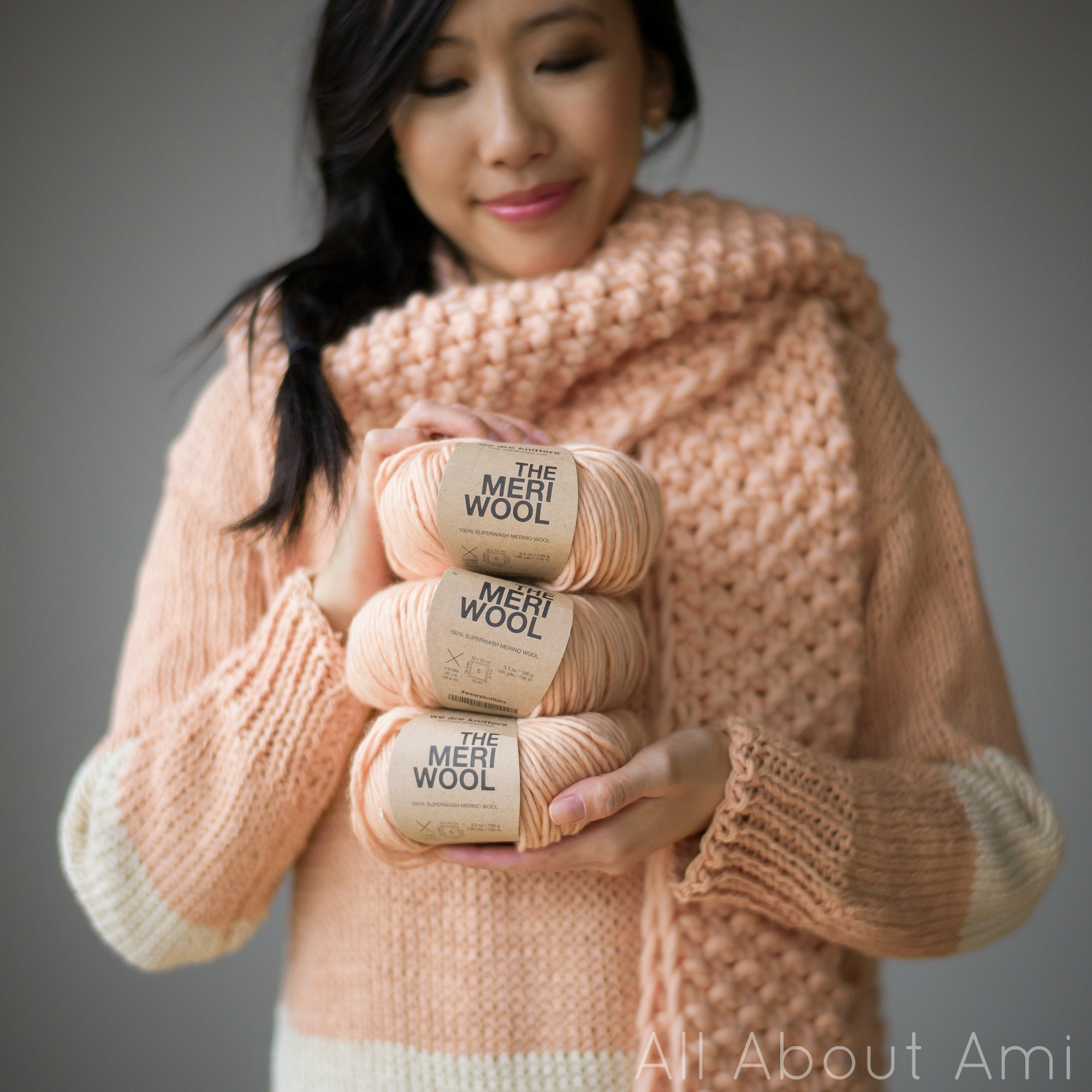 """3d7ed1031fd This stunning """"Cucho Scarf"""" was the project that sparked my interest in  knitting again at the beginning of the year"""