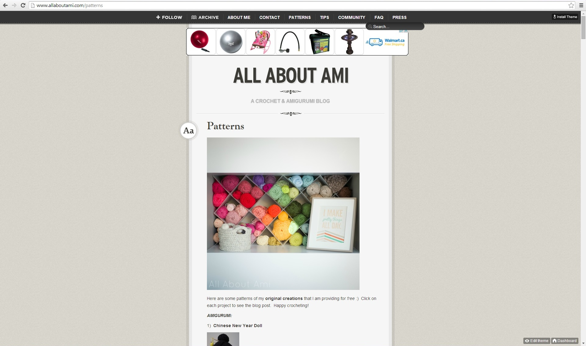 New Blog Design - All About Ami