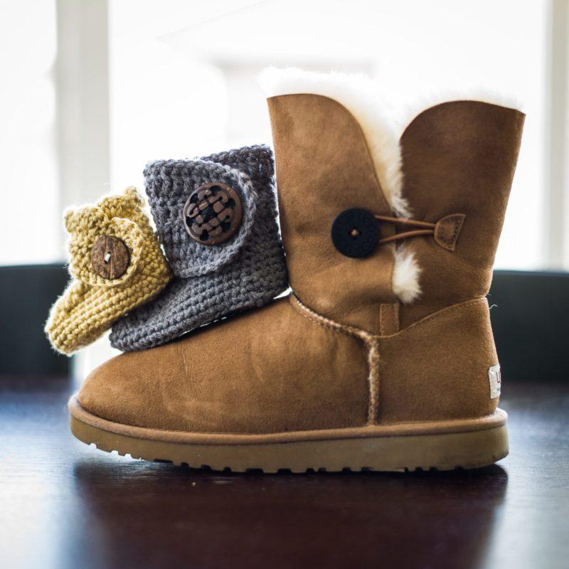 Crochet Baby Button Boots