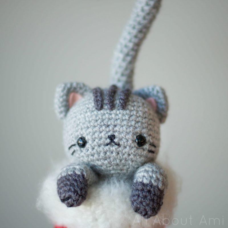Crochet Chester the Christmas Cat Amigurumi