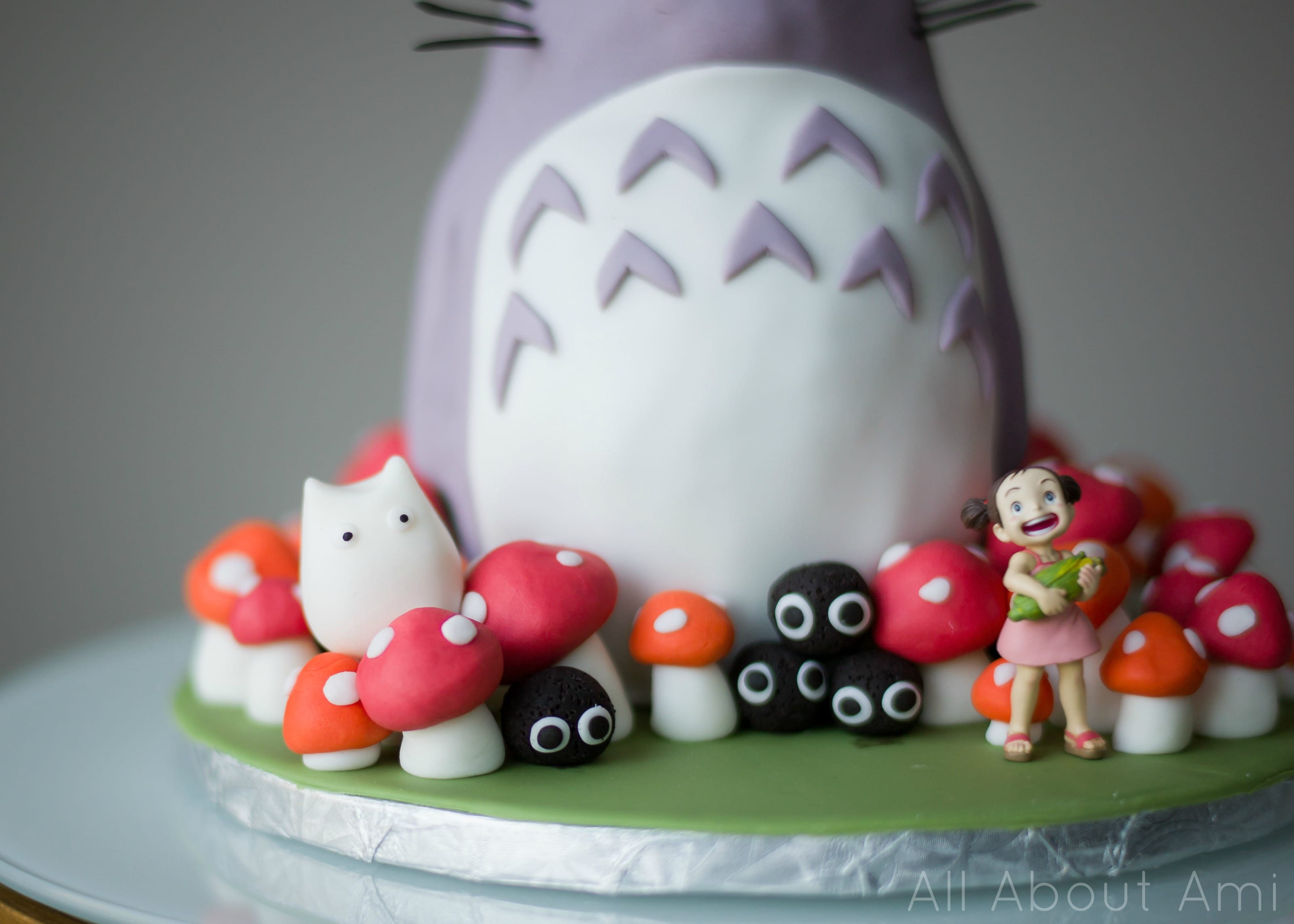 Brielles Totoro Birthday Cake All About Ami