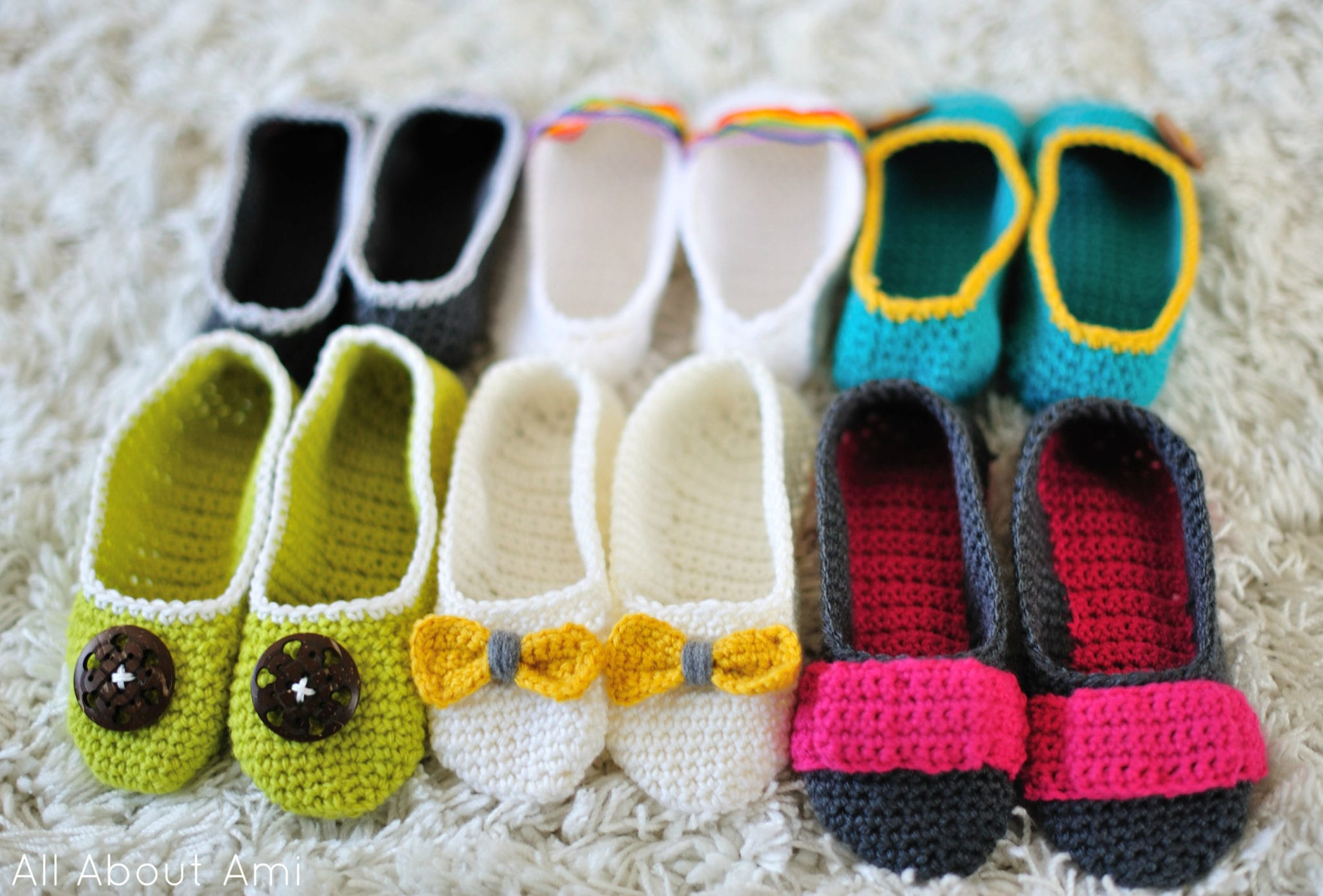 Crochet Slippers Part 2 - All About Ami