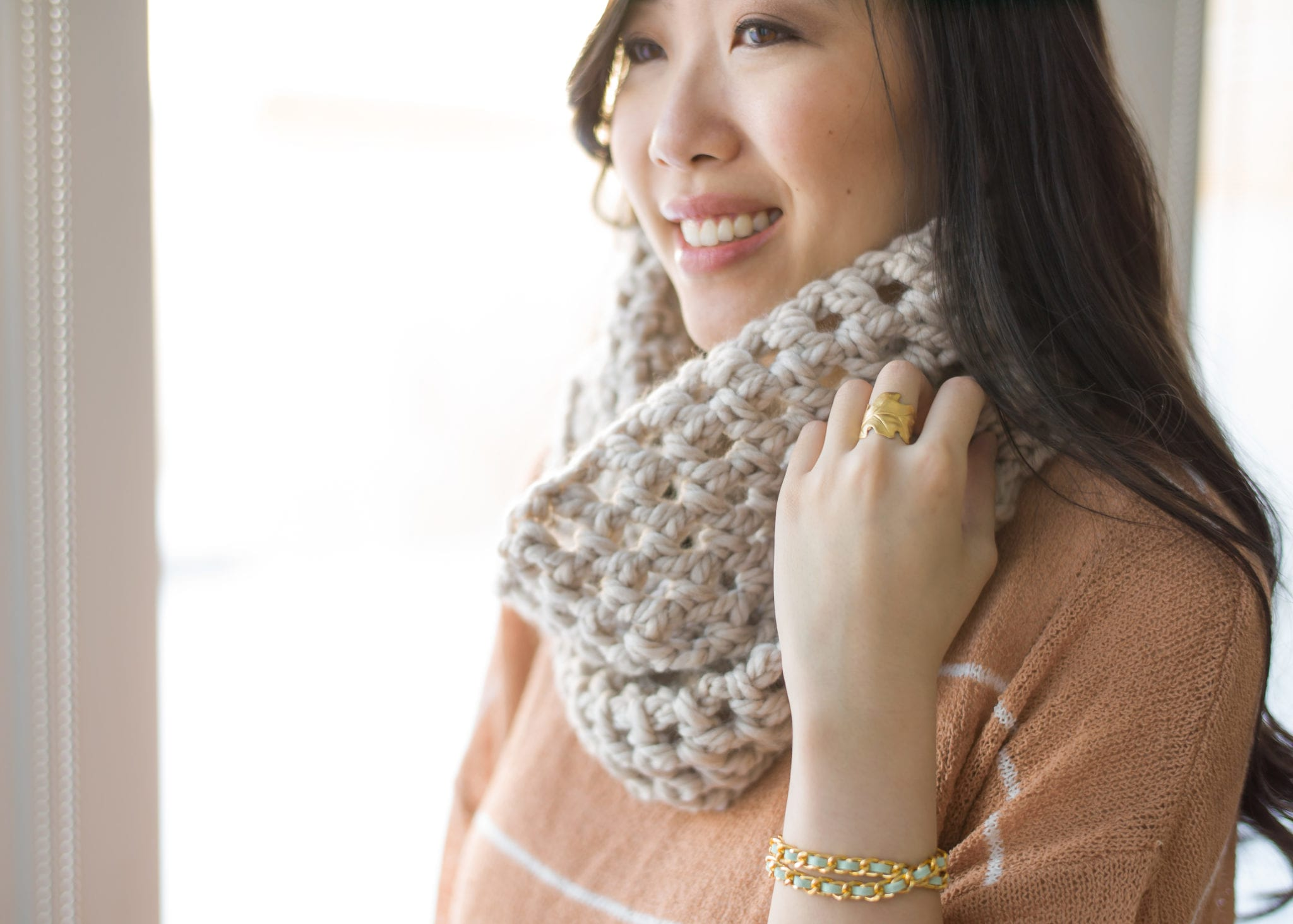 Chunky Double Crochet Cowl - All About Ami
