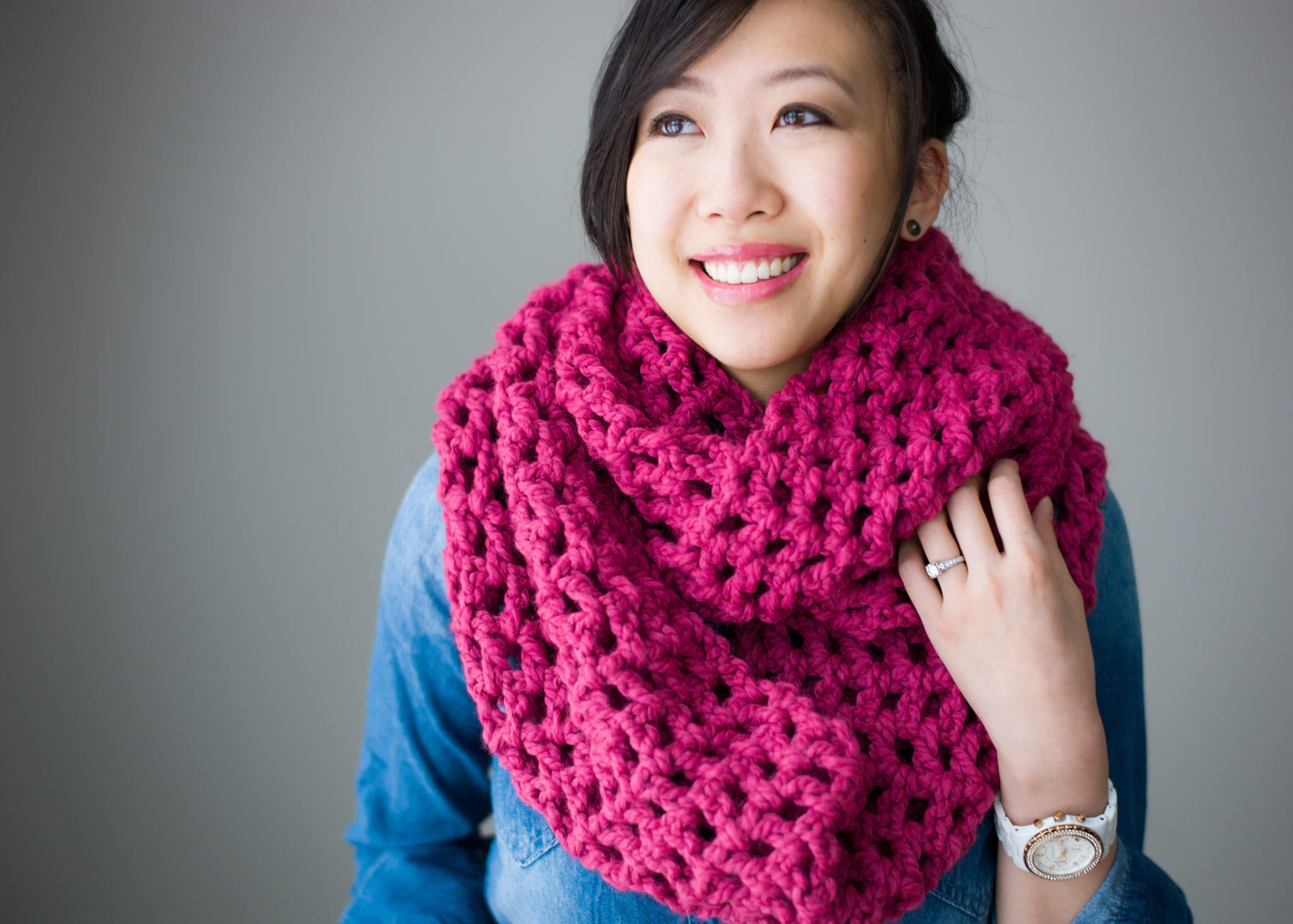 Long Double Crochet Cowl - All About Ami