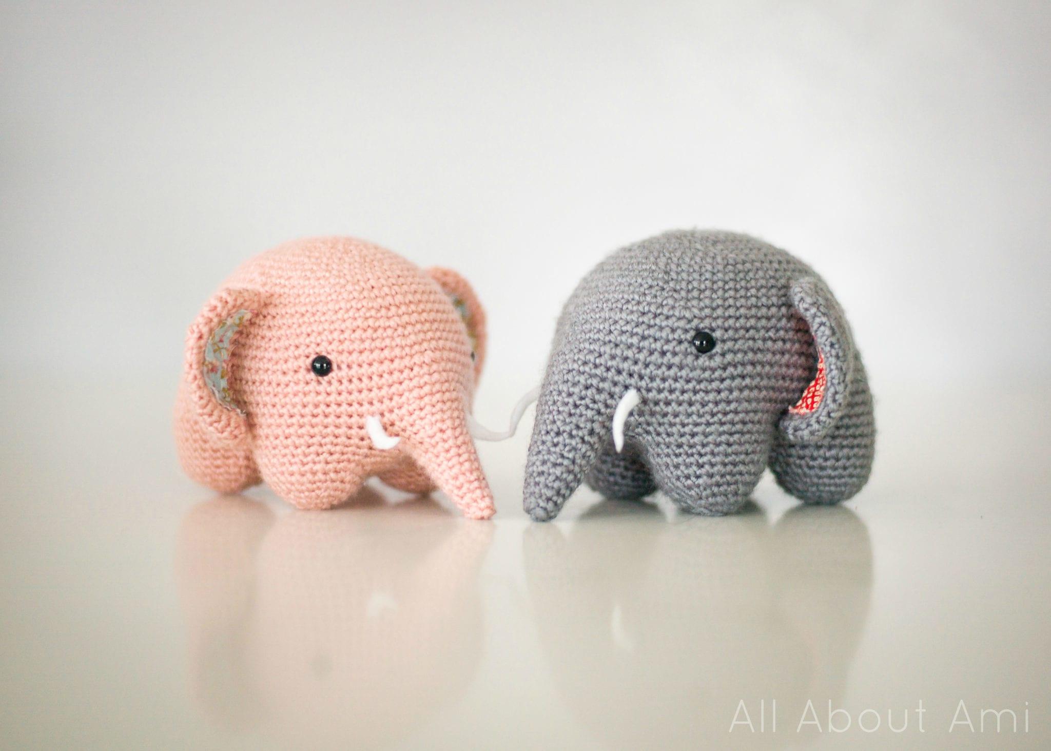 crochet elephant 1