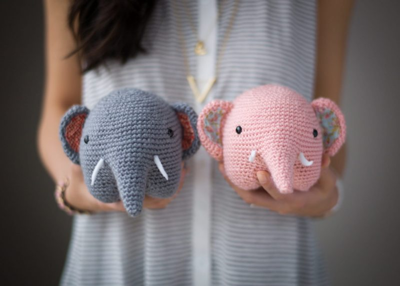 Pink crochet elephant pattern - Amigurumi Today | 571x800