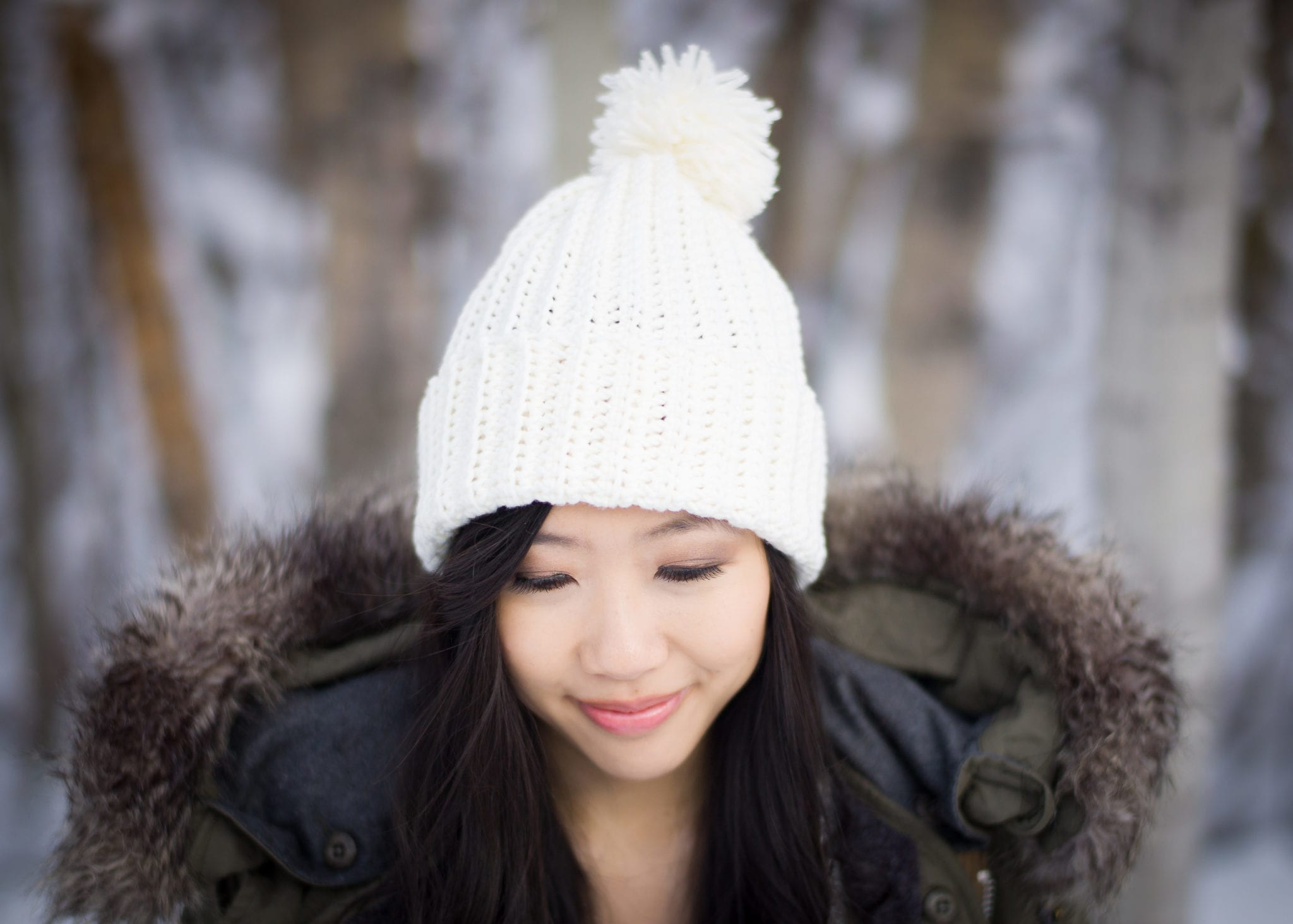 Easy Ribbed Pom Pom Beanie - All About Ami b587c272e6f