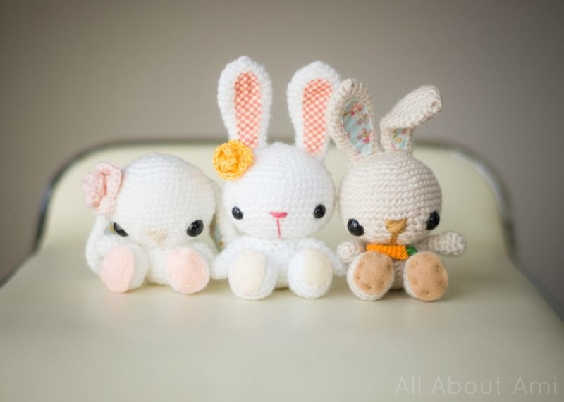 Free Amigurumi Bunny Pattern : Pattern: spring bunnies all about ami