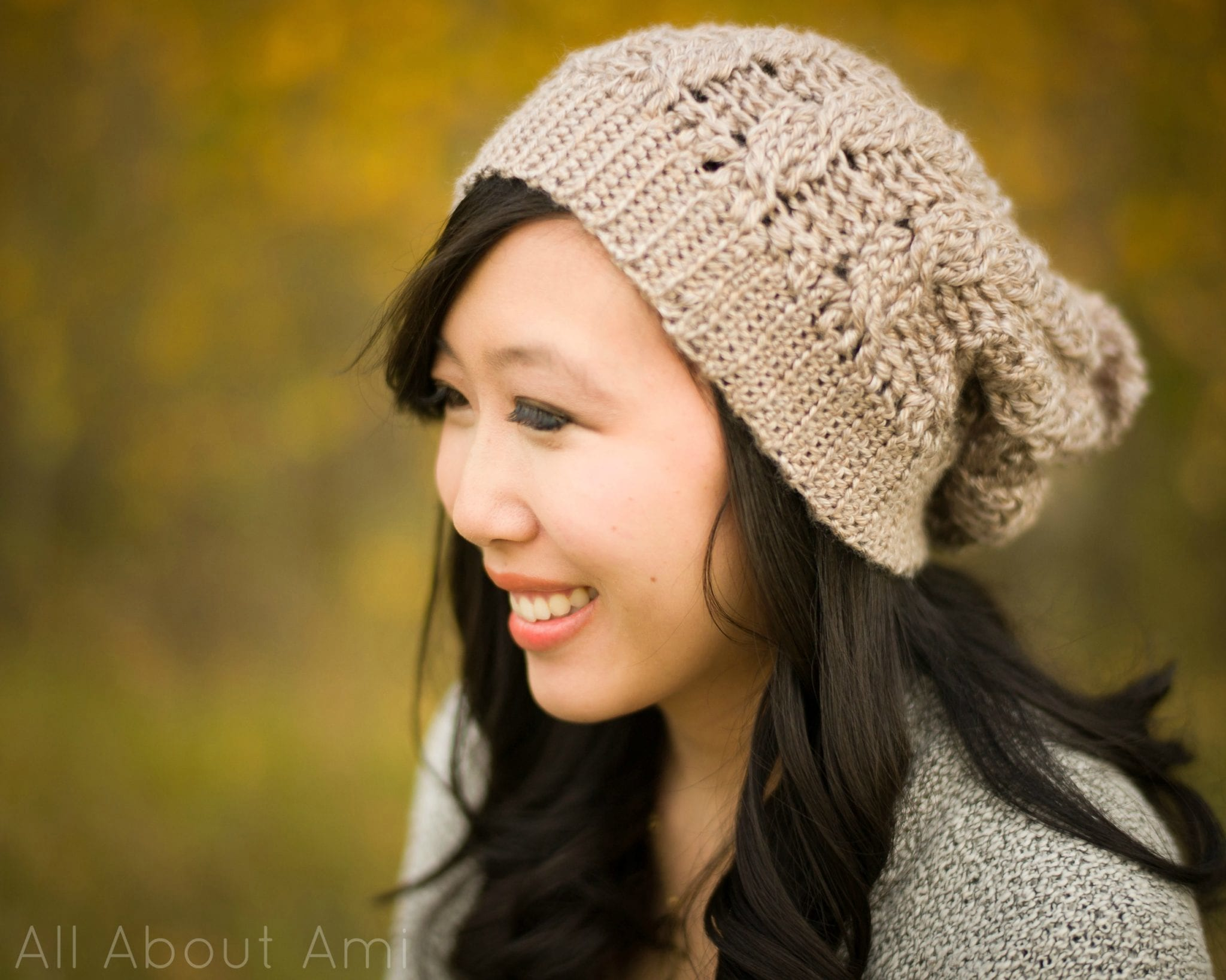 cf68300a2f7 Cabled Slouchy Beanie - All About Ami