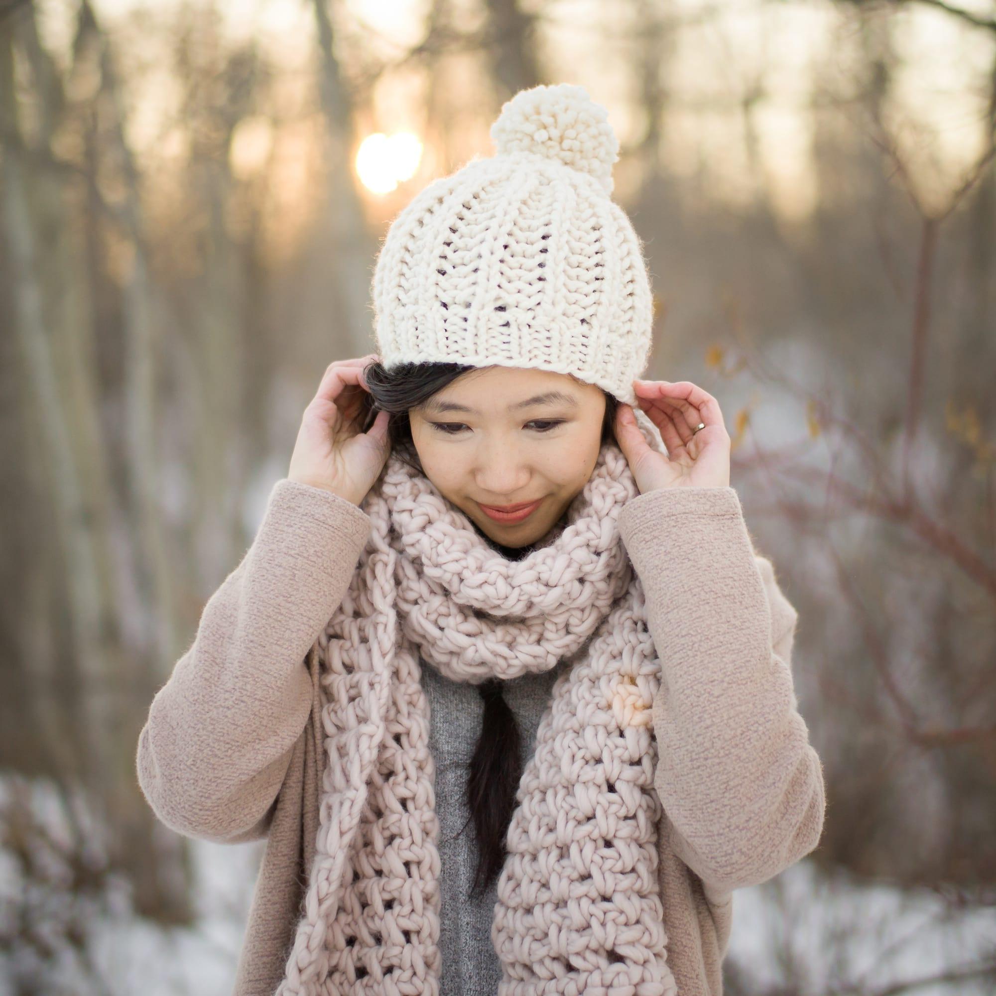 Knit Fisherman\'s Rib Hat - All About Ami