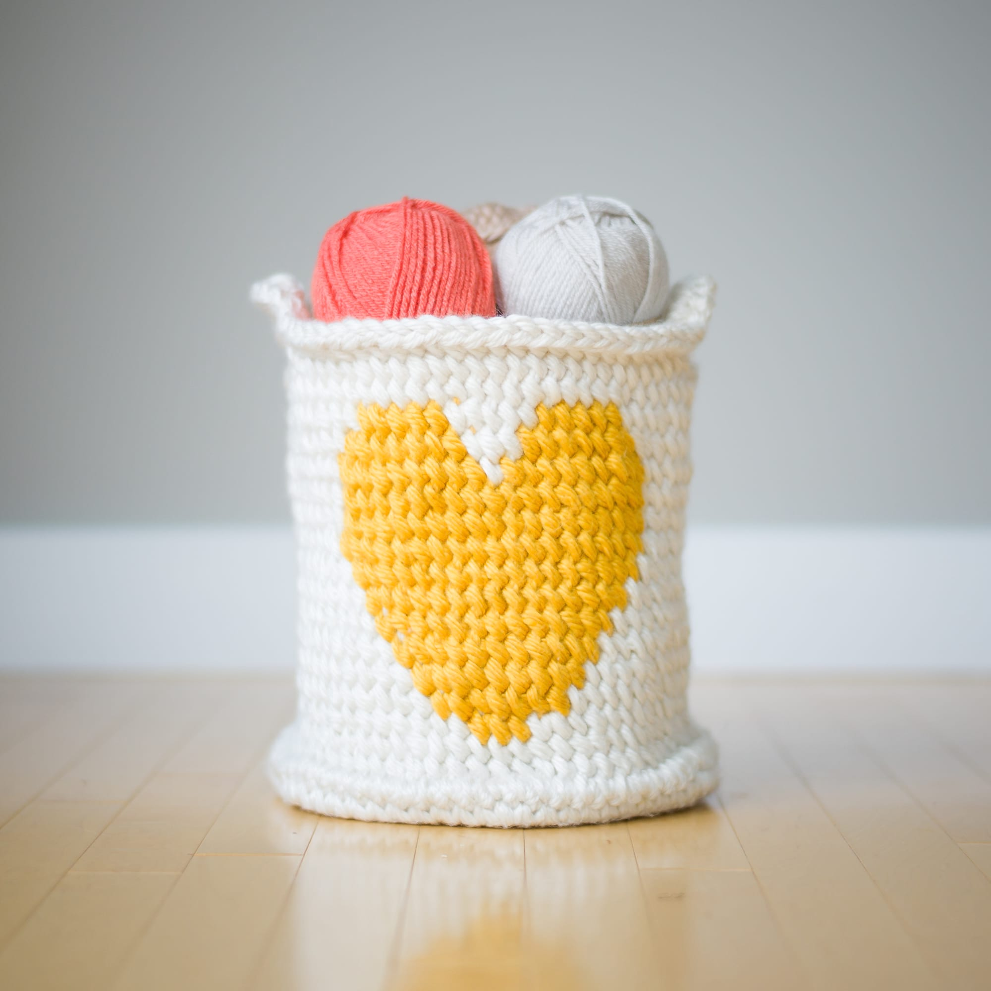 Crochet Heart Basket - All About Ami