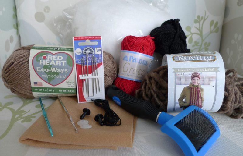 Crochet Valentine Teddy Materials