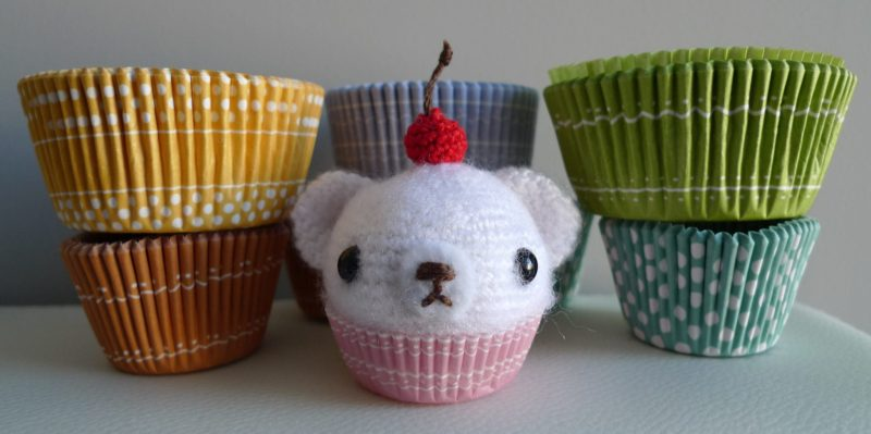 Crochet Mini Cupcake Bear
