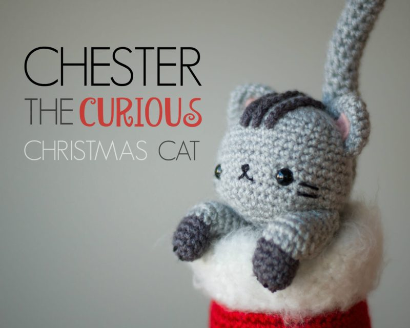Crochet Chester the Christmas Cat Amigurumi