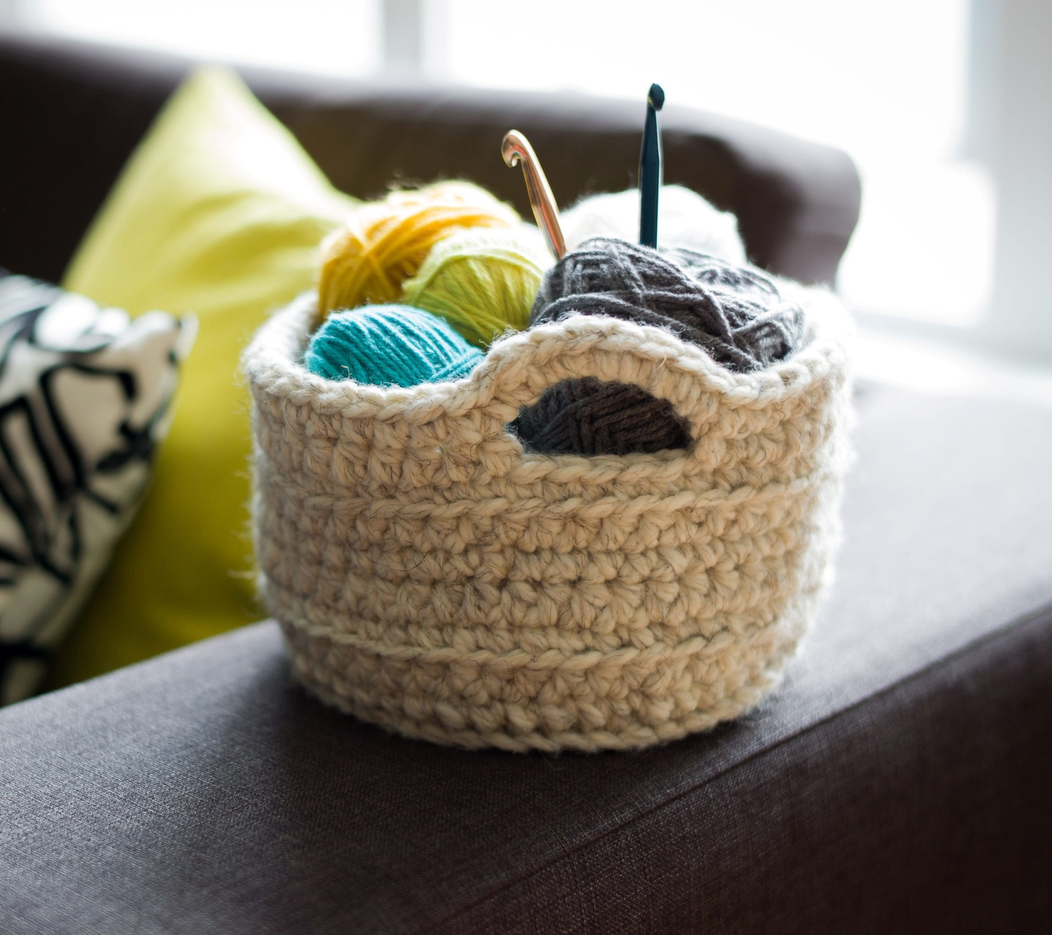 Chunky crocheted basket all about ami bankloansurffo Image collections